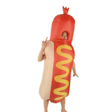 Inflatable Costume Hot Dog Fancy Dress Unisex Adult Halloween Cosplay Suit