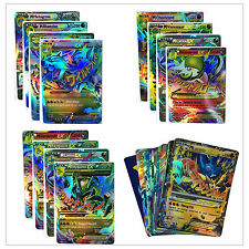 New 60Pcs Pokemon MEGA EX Card Holo Flash Trading Cards Charizard Fans Kids Gift