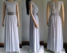 DOROTHY PERKINS Light Grey Chiffon Beaded Waist Lori Maxi Dress 8 BNWT  RRP £50