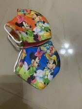 (2) Washable face mask Mickey Mouse Minnie Mouse🔥kids Size 3yrs-10yrs