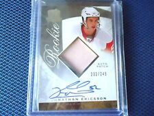 2008-09 THE CUP ROOKIE PATCH AUTO JONATHAN ERICSSON ON CARD AUTO 232/249 DETRIOT