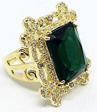 Melania Trump Jewelry Emerald Cut Openwork Gold tone Framing Ring Size 8