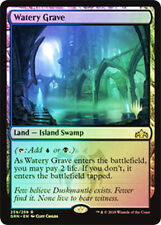 Colorless MTG FOIL PROMO - Guilds of Ravnica - Watery Grave - Land - Rare