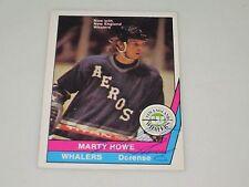 MARTY HOWE AUTOGRAPHED 1977-1978 OPC O-PEE-CHEE WHA CARD