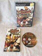 Street Fighter Anniversary Collection (PlayStation 2 PS2) TESTED COMPLETE
