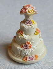 Dolls house: miniature wedding cake by Jeannetta Kendall