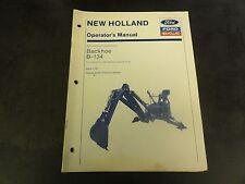 New Holland Ford B 134 Backhoe Operators Manual