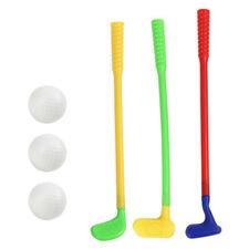 1 Set of Kids Golf Plastic Mini Putter Club Caddy Balls Fun Play Sports