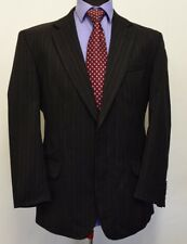 MS1361 PIERRE CARDIN MEN'S STRIPED CHARCOAL WOOL SUIT BLAZER JACKET SIZE 42S