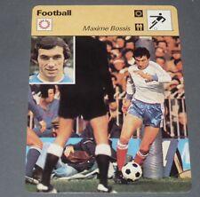 FICHE FOOTBALL 1978 ITALIE-FRANCE MAXIME BOSSIS BLEUS FC NANTES CANARIS