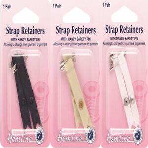 Hemline Shoulder Bra Strap Retainer With Safety Pin