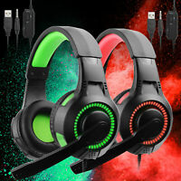 Gaming Headset Stereo Surround Headphone 3.5mm Wired Mic For Laptop PS5 Xbox One