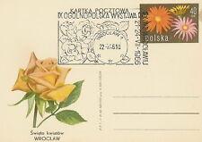 Poland postmark WROCLAW - flower rose