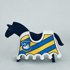 Playmobil 1974 Geobra Horse With Blue And Yellow Body Cover Vintage