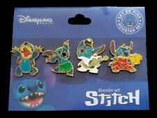 Disney Dlrp - Stitch Booster 4 Pin Set - Stitch as Godzilla Alien Elvis & Hula