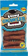 "Chicken Munch & Crunch Gnawler Bone 3"" Inch Training Dog Chew Treat 7 Pack PK pc"