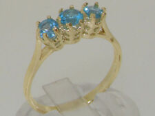 Topaz Round Yellow Gold Fine Rings