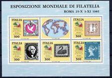 Italia Repubblica 1985 Bf 3 Esposizione mondiale filatelia 6° serie  MNH