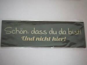 Kühlschrank Magnet - Gilde - Schön das du da bist! ... (2) - 15 x 5 cm