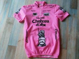 MAILLOT VELO CYCLISTE CHATEAU D'AX GIRO ITALIE 1990 TAILLE L/4 BE