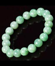 Burma Jadeite natural green jade bracelet 10mm gem stone 7 Inches