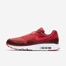 New Nike Men's Air Max 1 Ultra 2.0 Essential Shoes (875679-601)  Track Red