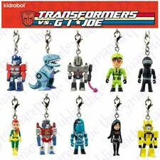 Complete Set of 10 - Kidrobot Transformers Vs G.I Joe Vinyl Keychain Series