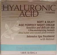 SPA COSMETICS Hyaluronic Acid Firming Age Perfect NIGH Cream 1.69 oz