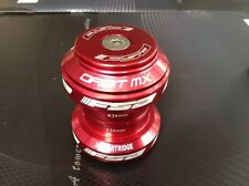 """New FSA ORBIT MX Traditional Threadless Headset 1-1/8"""" With top cap Red color"""
