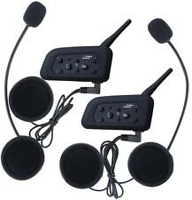 Fodsports 2pcs BT Motorcycle Intercom Motorbike Ski Atv Multi 6 Riders Intercom
