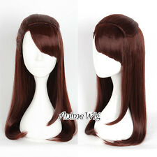 Anime For Little Witch Academia Akko Kagari 65cm Long Red Brown Wavy Cosplay Wig
