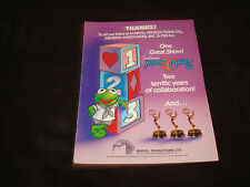 Jim Henson'S Muppet Babies 1984 Emmy ad with 3 awards with young Kermit The Frog