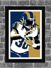 Los Angeles Rams Todd Gurley Portrait Sports Print Art 11x17