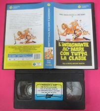 VHS film L'INSEGNANTE AL MARE CON TUTTA LA CLASSE Lino Banfi Rizzoli(F178)no dvd