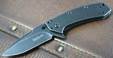 Couteau Kershaw Cryo A/O Lame Acier 8Cr13MoV Blackwash Manche Acier KS1555BW
