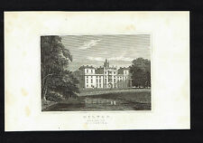 WILTON House-South East View -Wiltshire-Great Britain Illustrated Engraving 1831