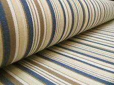Markisenstoff mehrfarbig blau-natur gestreift 160cm breit Stoff für Markisen 100