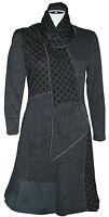 LADIES GREY POLKA DOT DESIGNER DRESS BY TINA TAYLOR SCARF ACCESSORY  RRP £85.99