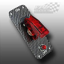 Iluminado Rojo 12v interruptor de palanca de fibra de carbono Panel Racing interruptor Para Tablero