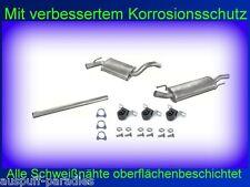 Abgasanlage Auspuff  VW Golf III 1.8 Limousine (1H1) & Carbriolet (1E7) + Kit