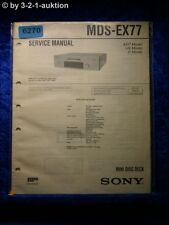 Sony Service Manual MDS EX77 Mini Disc Deck (#6270)