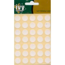 490 13mm White Self Adhesive Round Dot Labels - 232230 - Made In The UK By Ivy
