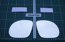 Außenspiegel Spiegelglas Ersatzglas Opel Corsa C M3 ab 2000-2006 L o R sph Blau
