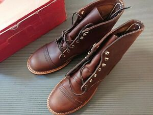 """Red Wing Heritage Iron Ranger 6""""Boots Amber #08111 8.5 D USA"""