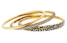 Michael Kors MKJ4543710 Animal Instinct Gold Glitz Set Of 3 Bangle Bracelets NEW
