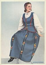 HEDEMARK NORWAY~YOUNG WOMAN IN NATIONAL COSTUME POSTCARD