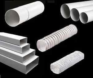 Lüftungsrohr Luftkanal Rundkanal Flachkanal PVC Rohr Rundrohr Rohrleitung dalap®