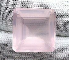 22.90 Carat Square Madagascar Rose Quartz Gem Stone Gemstone Natural EBS1651