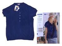 schicke Damenbluse Bluse Tunika Gr. S 36/38 blau  Viskose NEU