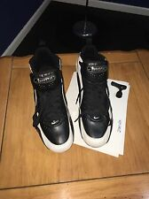 Mens 13 NIKE Air Zoom Woodshed Mid D Detachable Black White Football Cleats